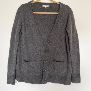 Madewell Grey Wool Cardigan Sweater